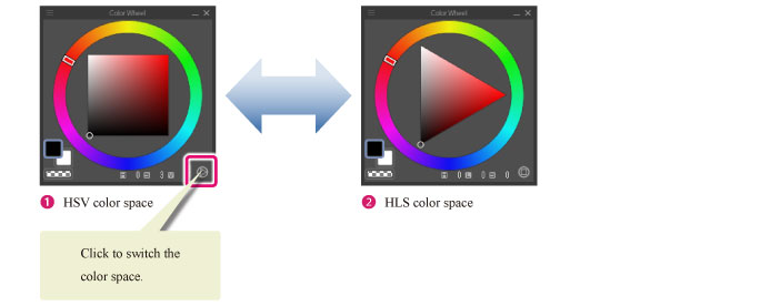 Clip Studio Paint User Guide Functions Of Color Palettes